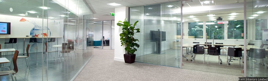 Polar Vision Office Partitioning with full height Halo Door Frame